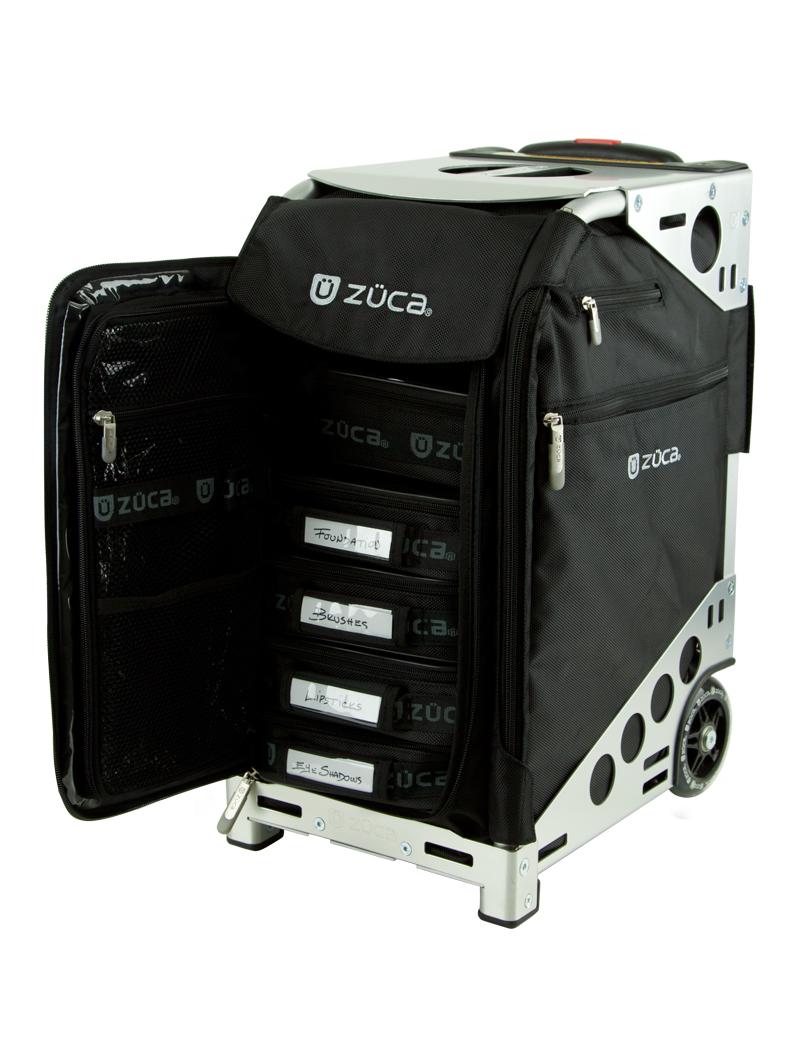 Zuca Pro Artist Case - Black on Silver