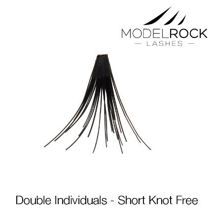 MODELROCK Lashes Short Knot Free Double style Individual Lashes