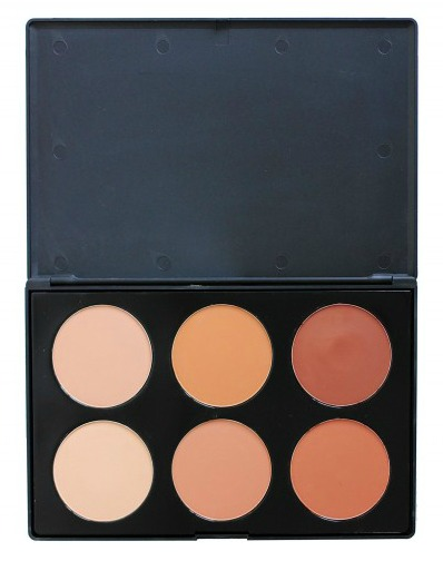 Crown Brush 6 Colour Pressed Powder Foundation Palette