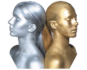 Graftobian Cosmetic Powder Metal Pot - Silver