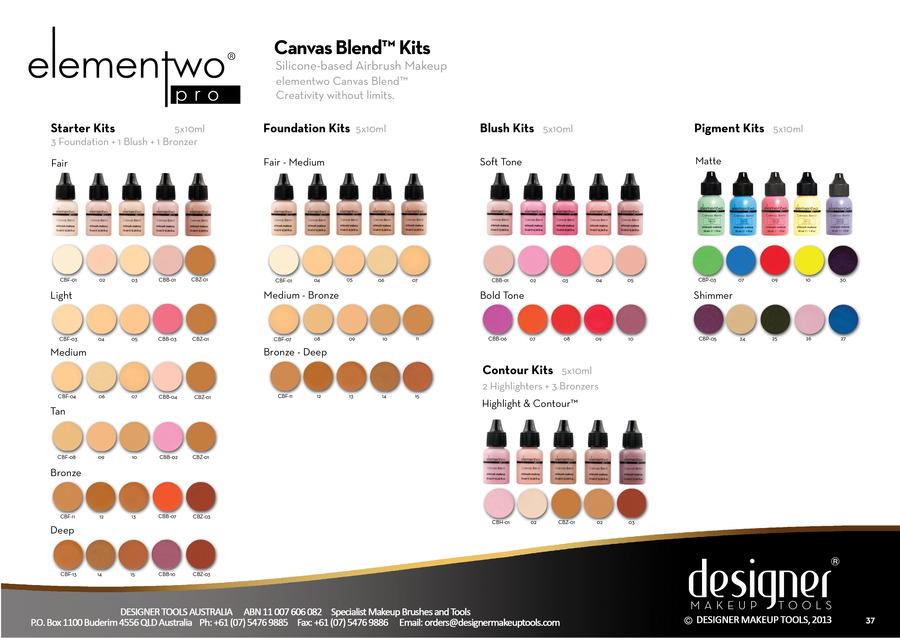 Elementwo Soft Blush Sets Canvas Blend (5 x 10ml)