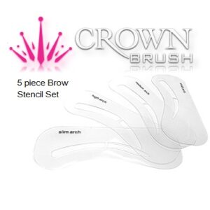 Crown Brush 5pc Brow Stencil Set