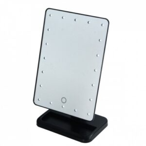 Crown Brush LED Makeup Mirror on Stand Black