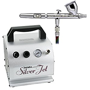 Iwata Silver Jet IS50 Compressor + HP.CR Airbrush