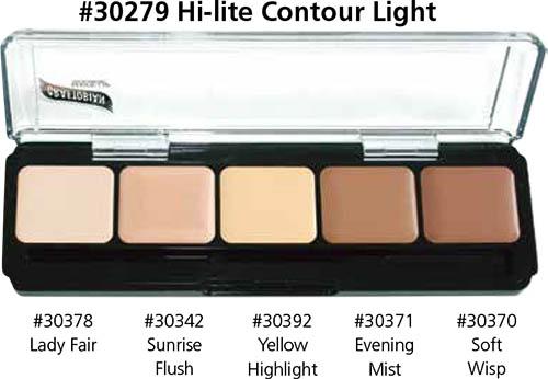 Graftobian Hi-lite Contour Palette - Light