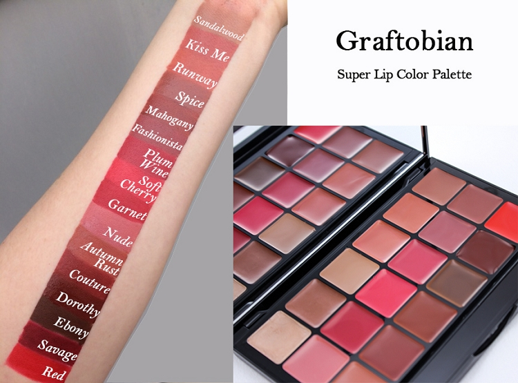 Graftobian HD Super Lip Palette - 18 shades