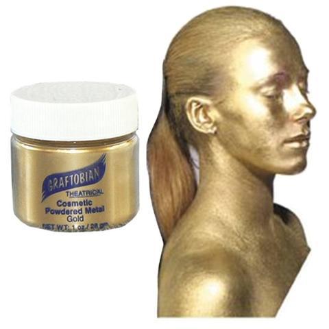 Graftobian Cosmetic Powder Metal Pot - Gold