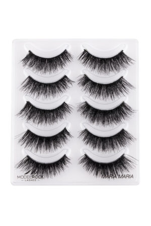 MODELROCK Lashes Multi Pack Maria Maria Double Layered 5 pair Lash Pack *Distributor Out of Stock*