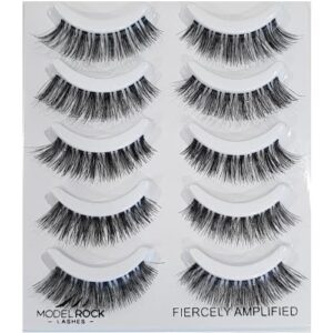 MODELROCK Lashes Multi Pack Fiercely Amplified 5 Pair Lash Pack