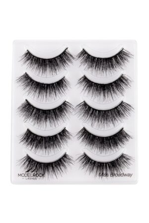 MODELROCK Lashes Multi Pack Miss Broadway - Double Layered - 5 pair Lash Pack