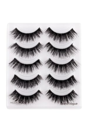 MODELROCK Lashes Multi Pack Grand Vogue - Double layered - 5 Pair Lash Pack