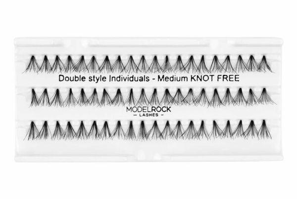 MODELROCK Lashes Medium Knot Free Double Style Individual Lashes