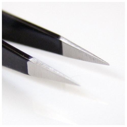 Seki Edge Black Stainless Steel Pointed Tweezer