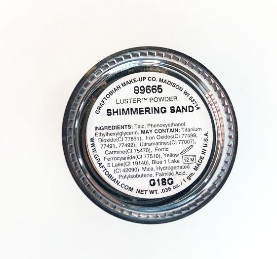 Graftobian Mini Luster Powders - Shimmering Sand