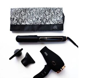 H2D Linear II Matt Black And Rose Gold Hair Straightener Full Size Dryer Duo Pack - Limited Edition