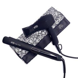 H2D Linear II MATTE Black Hair Straightener and Travel Dryer Gift Pack