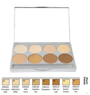 Graftobian HD Pro Powder Foundation Palette - Warm