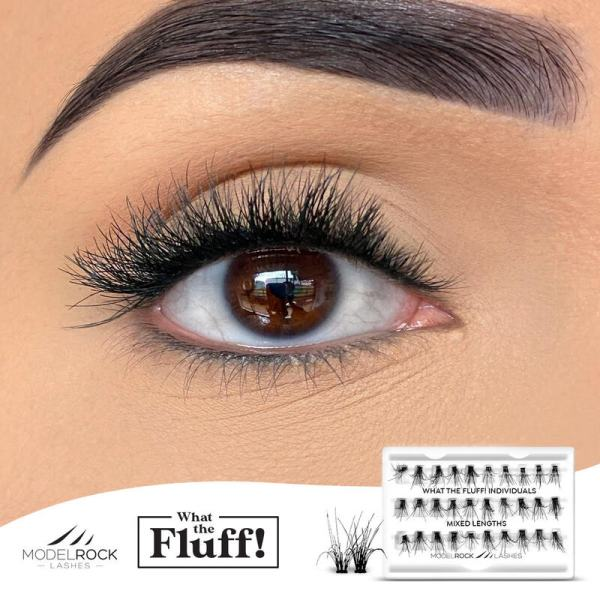 MODELROCK What The Fluff Lashes - Individuals 'MIXED LENGTHS' - 30 / pk clusters