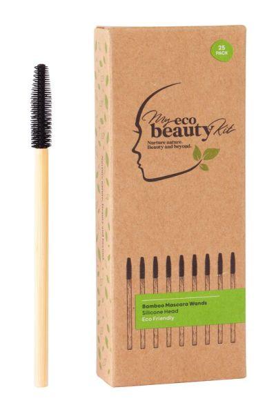My Eco Beauty Kit Bamboo Disposable Mascara Wands - Silicone head 25pk