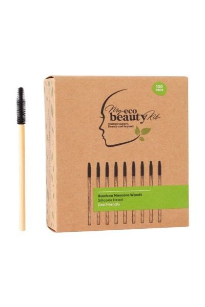 My Eco Beauty Kit Bamboo Disposable Mascara Wands - Silicone head 100pk