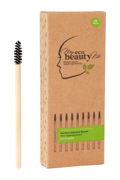 My Eco Beauty Kit Bamboo Disposable Mascara Wands - Mini Tapered head 25pk