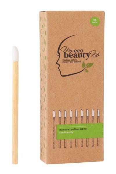 My Eco Beauty Kit Bamboo Disposable Lip Gloss Wands 25pk
