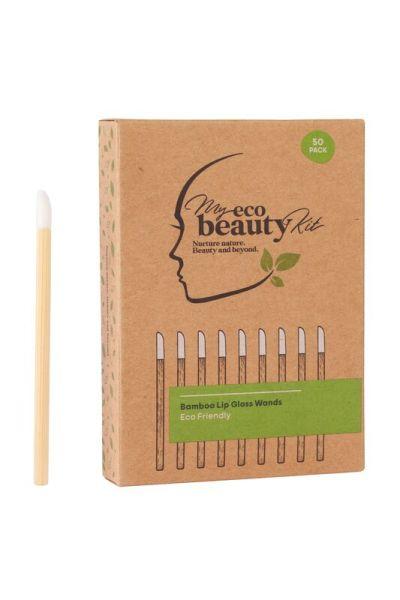 My Eco Beauty Kit Bamboo Disposable Lip Gloss Wands 50pk