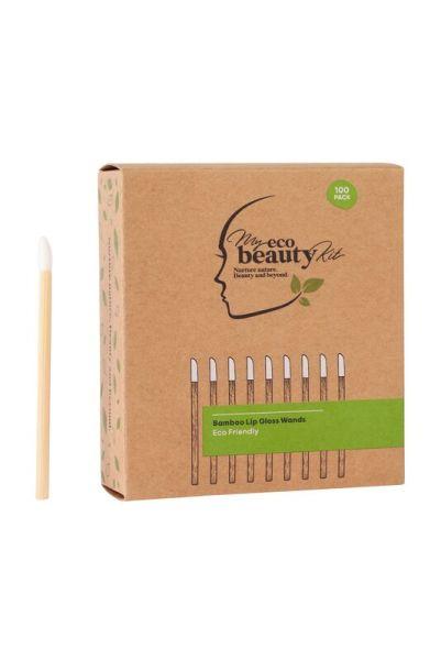 My Eco Beauty Kit Bamboo Disposable Lip Gloss Wands 100pk