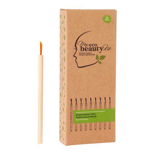My Eco Beauty Kit Bamboo Nylon Fiber Eyeliner Wands 25pk
