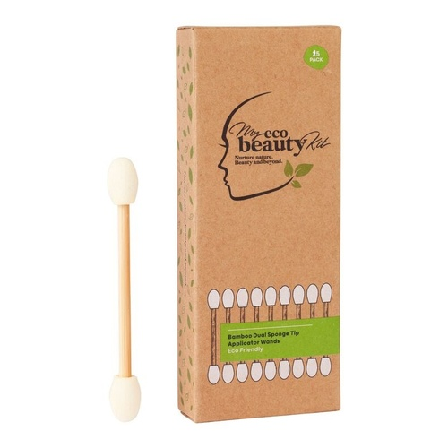 My Eco Beauty Kit Bamboo Disposable Dual ended Sponge Tip Applicator 15pk