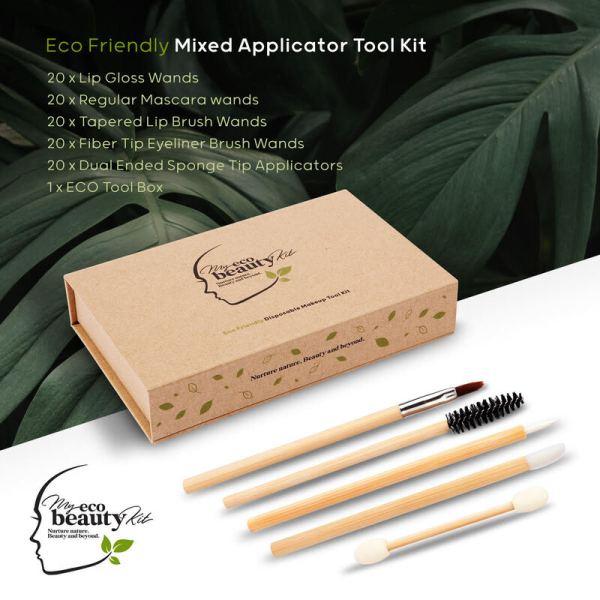 My Eco Beauty Kit Bamboo Disposables 'Mixed Applicators Pack' - ECO TOOL KIT