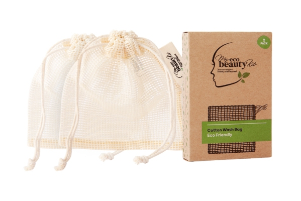 My Eco Beauty Kit Cotton Wash Bag 2pk