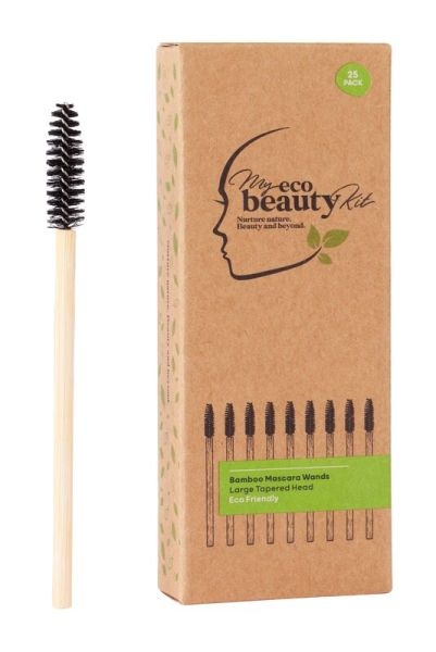 My Eco Beauty Kit Bamboo Disposable Mascara Wands - Large Tapered head 25pk